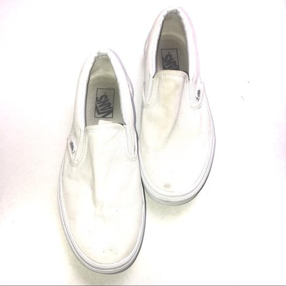 Vans All White Vans With No Shoe Laces